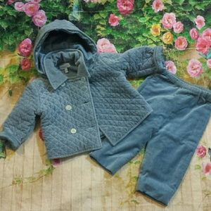*SALE* Baby Cz velour quilted 2 piece set 18m